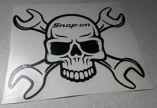 JDM Snap On Toolbox Skull Wrench Japanese Drift Racing  | Die Cut Vinyl Sticker Decal | Sticky Addiction