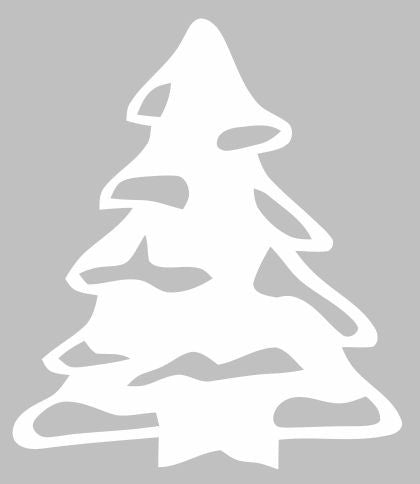 Snowy Christmas Tree |  Die Cut Vinyl Sticker Decal | Sticky Addiction
