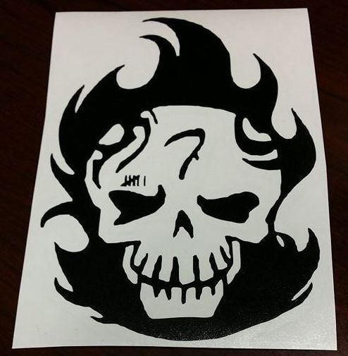 Suicide Squad Diablo Skull | Die Cut Vinyl Sticker Decal