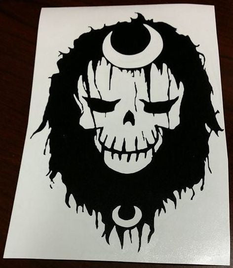 Suicide Squad Enchantress Skull | Die Cut Vinyl Sticker Decal