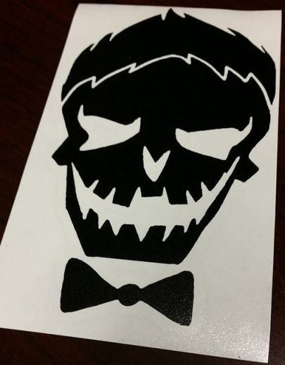 Suicide Squad Joker Skull | Die Cut Vinyl Sticker Decal
