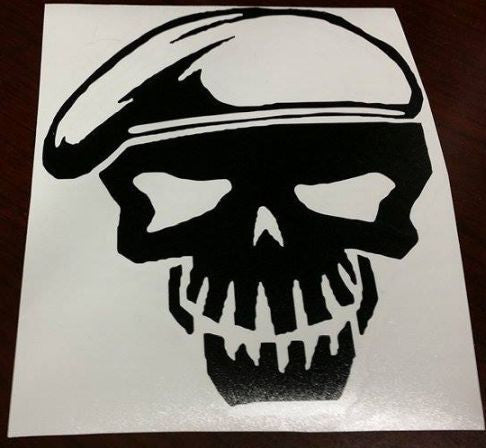 Suicide Squad Rickflag Skull | Die Cut Vinyl Sticker Decal