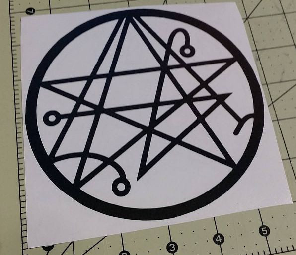 Sigil Of The Gateway Witchraft Horror Occult | Die Cut Vinyl Sticker Decal | Blasted Rat
