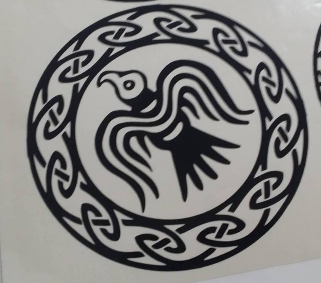 Viking Hawk Amulet | Die Cut Vinyl Sticker Decal