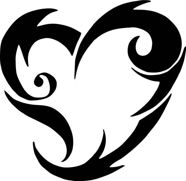 Tribal Heart | Die Cut Vinyl Sticker Decal | Sticky Addiction