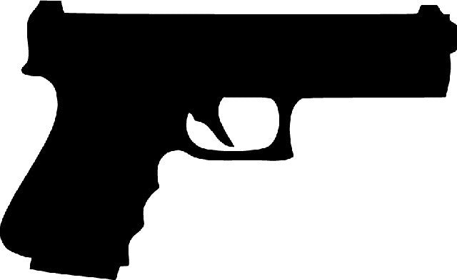 9mm Hand Gun | Die Cut Vinyl Sticker Decal | Sticky Addiction