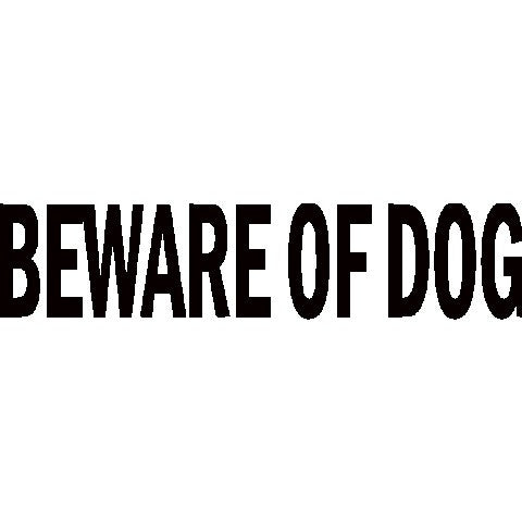 Beware of Dog | Die Cut Vinyl Sticker Decal | Sticky Addiction
