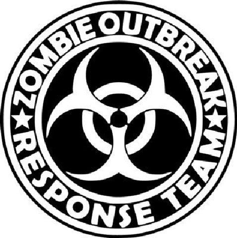 Zombie outbreak response team round logo | Die Cut Vinyl Sticker Decal | Sticky Addiction