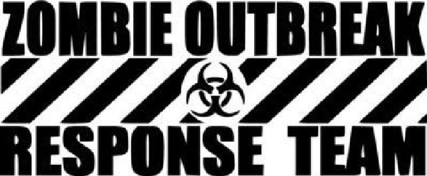 Zombie Outbreak Response Team Die Cut Vinyl Sticker