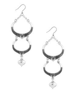 Silver Long Earrings by Lucky Brand