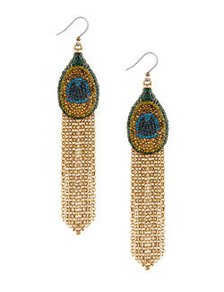 Lucky Brand Peacock Earrings