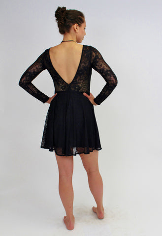 Minuet 3/4 Lace Dress Black