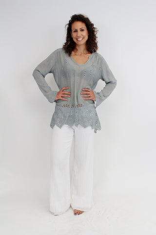 Sheared Yoke Tunic by Johnny Was