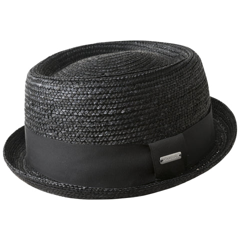 Kangol Wheat Braid PorkPie Black