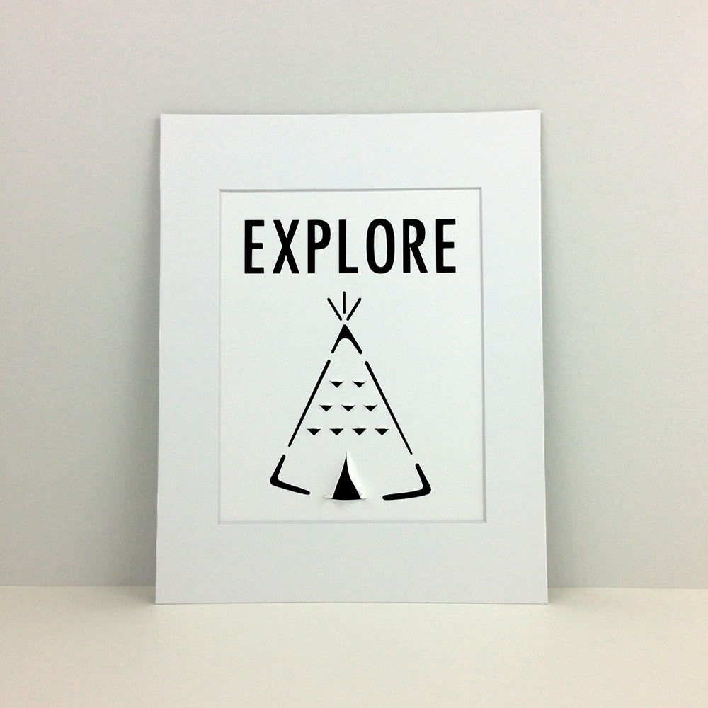 Teepee – 3D wall art