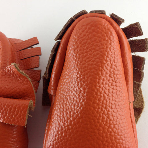 Orange Dreamsicle - Baby Moccasins