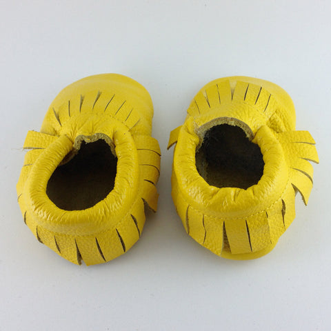 Macaroon Yellow - Baby Moccasins