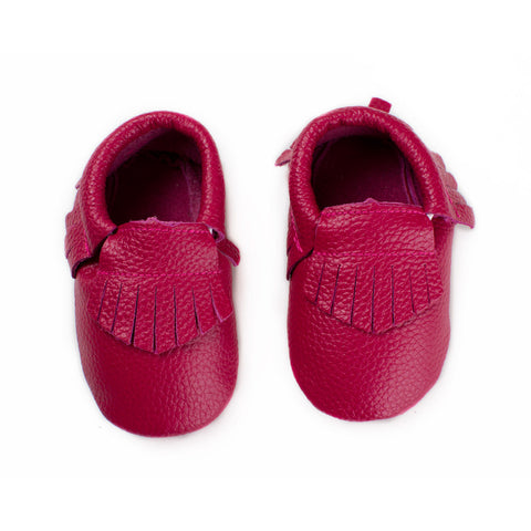 Mulberry Pink - Baby Moccasins
