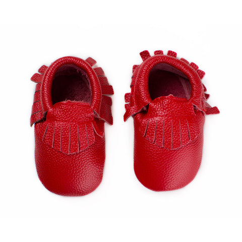 Strawberry Red - Baby Moccasins