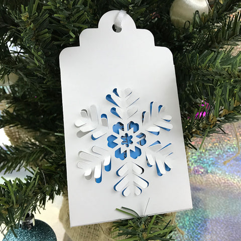 Snowflake gift card holder