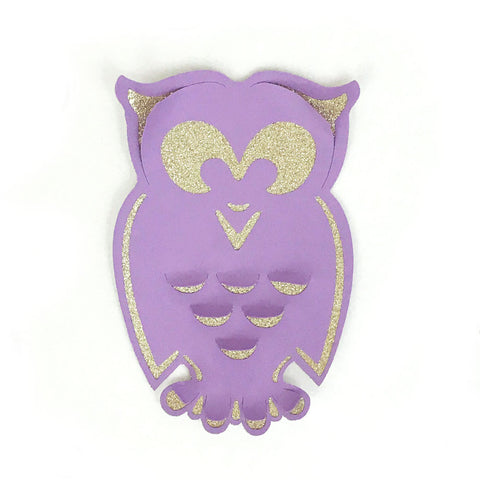 Owl paper decoration