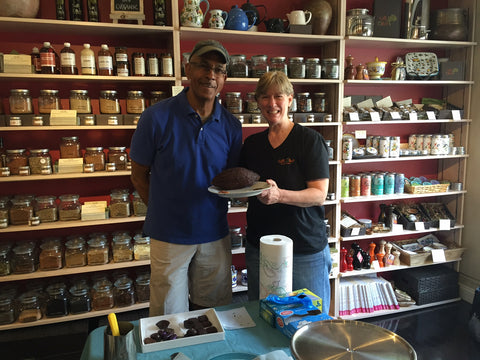 Doug Griffin of Chocolate Therapy with Salt and Olive owner Mary Taylor