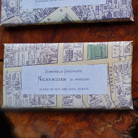 Nicaraguan 70% Chocolate Bar by Somerville Chocolate