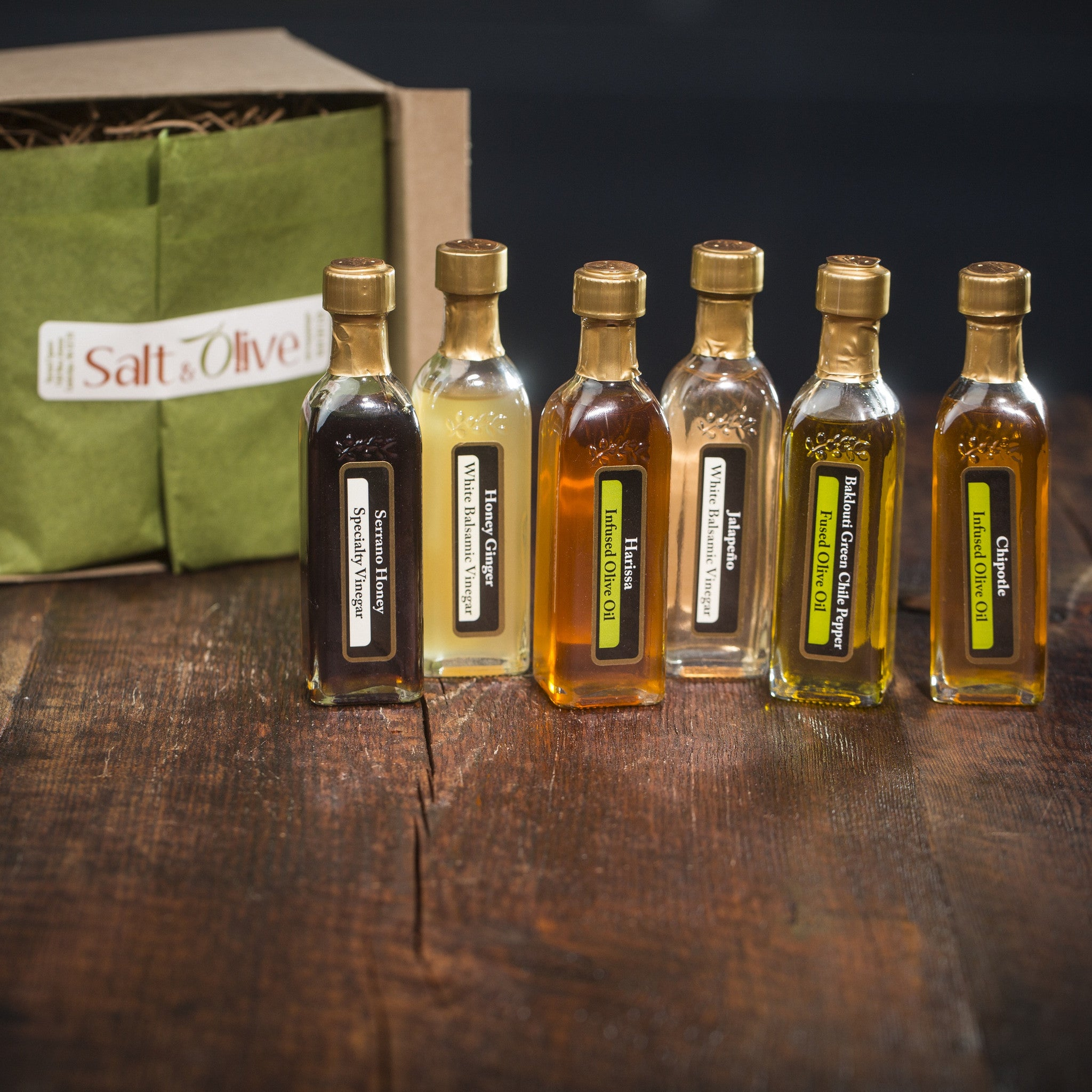 Spicy EVOO and Aged Balsamic Sampler