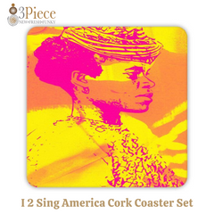 I 2 Sing America Cork Coaster Set