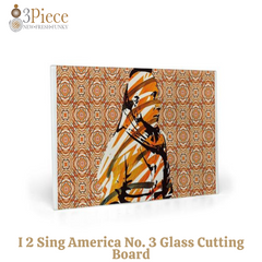 I 2 Sing America No. 3 Glass Cutting Board