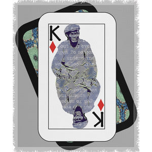 Play Your Hand...King Diamond No. 1 Woven Blanket