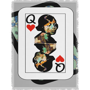 Play Your Hand...Queen Heart No. 1 Woven Blanket