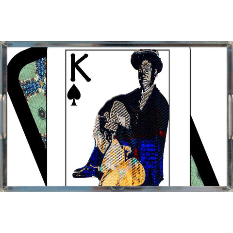Play Your Hand...King Spade No. 1 Acrylic Tray