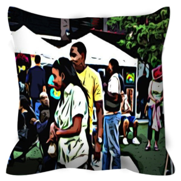 Street Scene No. 2 Throw Pillow