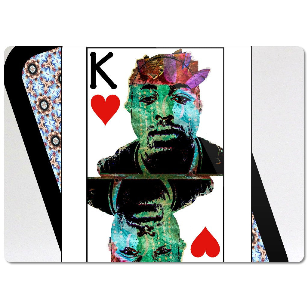 Play Your Hand...King Heart No. 2 Glass Cutting Board