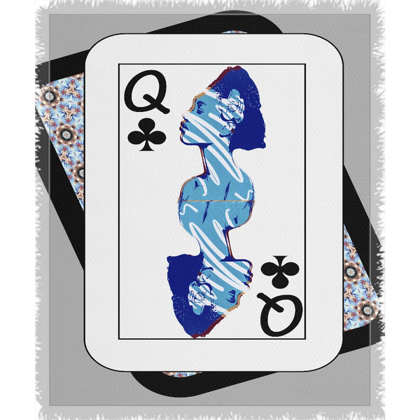 Play Your Hand...Queen Club No. 2 Woven Blanket