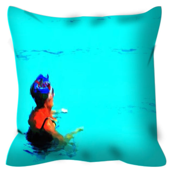 Deep End No. 1 Throw Pillow