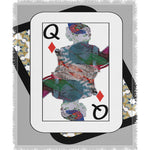 Load image into Gallery viewer, Play Your Hand...Queen Diamond No. 3 Woven Blanket