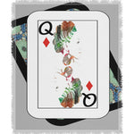 Load image into Gallery viewer, Play Your Hand...Queen Diamond No. 1 Woven Blanket