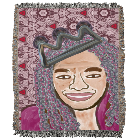 Queen Things No. 6 Woven Blanket