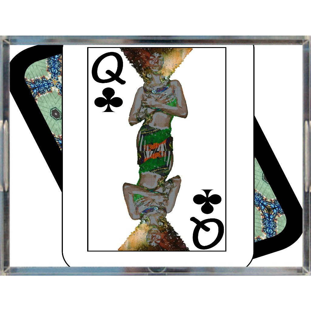 Play Your Hand...Queen Club No. 1 Acrylic Tray