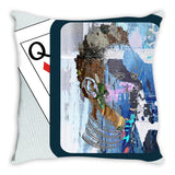 Play Your Hand...Watch Your Back No. 2 Throw Pillow