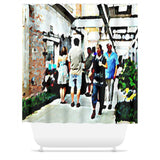 Street Scene No. 3 Shower Curtain