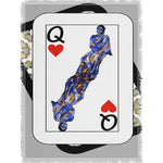 Load image into Gallery viewer, Play Your Hand...Queen Heart No. 3 Woven Blanket
