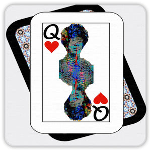 Play Your Hand...Queen Heart No. 2 Coaster Set