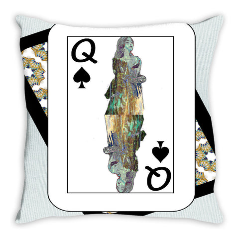 Play Your Hand...Queen Spade No. 3 Throw Pillow