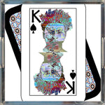 Load image into Gallery viewer, Play Your Hand...King Spade No. 2 Acrylic Tray