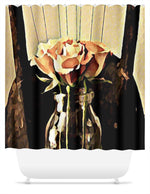 Load image into Gallery viewer, A Rose is Still a Rose Shower Curtain