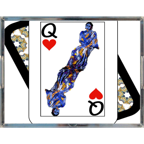 Play Your Hand...Queen Heart No. 3 Acrylic Tray