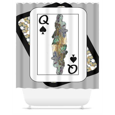 Play Your Hand...Queen Spade No. 3 Shower Curtain